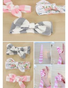Easy DIY Baby Headbands | DIY Baby Shower Ideas for Girls | Click for Tutorial DIY home deocr, DIY cleaning supplies