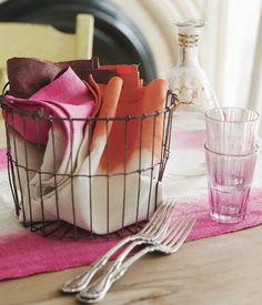 Dip Dye Textiles/hombre napkins :-)