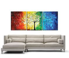 couch wall painting