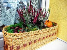 Jesenná dekorácia na okne. Mamina urobila košík, vnučka sa vyzabávala pri aranžovaní:) Tvorí celá rodina. Artmama.sk