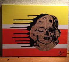 """""""Supernatural Marilyn Monroe"""" By Jesse James Pop Contemporary Street Art. Up for sale is a pop graffiti street art titled, """" Supernatural """", 1/1, 11x14 original painting on framed canvas, created by street artist known as Jesse James. All work is signed and comes with certificate of authenticity. Art Piece: The artist used vintage paper, and acrylic paints on canvas to create the art. The painting has a gloss varnish finish. Gallery Price: $150 Jessie James is an unknown up and coming…"""