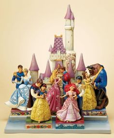 Disney Traditions princesses with their princes and castle