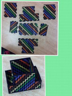 Box perler beads by Amanda Collison