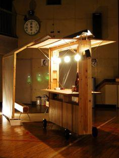 ヤタダラの画像 Kiosk Design, Cafe Design, Chariot Velo, Mobile Architecture, Food Cart Design, Pallet Room, Food Kiosk, Coffee Carts, Food Stands