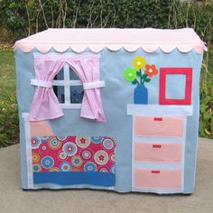Around the House Card Table Playhouse by missprettypretty on Etsy
