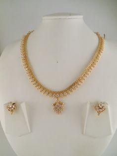 stone Gold Chain Design, Gold Ring Designs, Gold Earrings Designs, Gold Jewellery Design, Gold Necklace Simple, Gold Jewelry Simple, Necklace Set, Durga, Siri