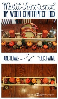 This Wood DIY Multi-Functional Centerpiece Box is so handy for buffet parties and for use as a decorative centerpiece for Weddings, Holidays and everyday in your kitchen. #ad #BigDeal #CollectiveBias