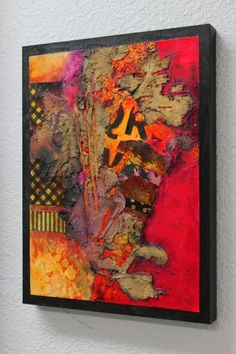 """Mixed media abstract collage, """"Summer in the City"""" by Carol Nelson"""