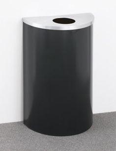 14 Gallon Glaro Half Round Trash Can or Recycle Bin w/Plastic Liner 1891 - outdoor & indoor trash cans, recycle bins, & ashtrays for commercial, office or home. Trash Containers, Recycling Containers, Recycling Bins, Outdoor Ashtray, Kitchen Trash Cans, Garbage Can, Galvanized Steel, Amazing Bathrooms, Indoor