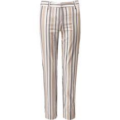 Women's Capri Trouser (5.670 RUB) ❤ liked on Polyvore featuring pants, capris, neutral, cotton pants, white capri pants, cotton trousers, white pants and cropped capri pants