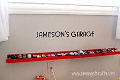 Toy Car Storage from IKEA picture rails