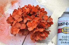 How to spray paint artificial flowers