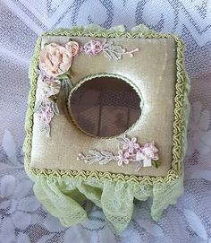Tissue Box Cover Home Decor. Vintage by LindyLoosTreasures on Etsy