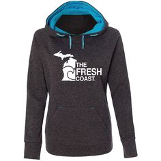 THE SOFTEST hoodie with our new design!  The FRESH Coast!!!