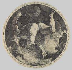 Hendrick Goltzius after Cornelis Cornelisz van Haarlem: Tantalus, Icarus, Phaeton, and Ixion: From the series The Four Disgracers (53.601.33...