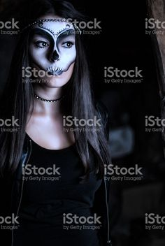 Beauty woman with creative make up for halloween royalty-free stock photo