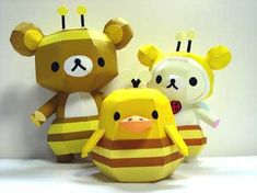 Relax Bear series - bee costume (via Papercraft Paradise with link to the Relax Bear website)