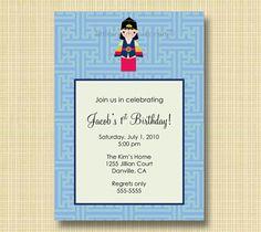 Little Seouls Boy Lattice Invitation Korean Birthday, Custom Invitations, First Birthdays, Boys, Frame, Baby Boys, Picture Frame, One Year Birthday, Senior Boys
