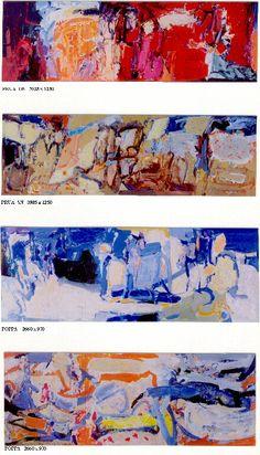 Alberto Boschi - acrilico su pannelli ignifughi - 2002 - M/N La Superba Grandi Navi Veloci Grimaldi Salone delle Feste