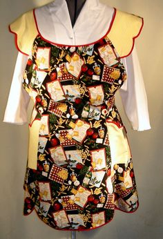 Hey, I found this really awesome Etsy listing at https://www.etsy.com/listing/180709912/n104-italian-cafe-1950s-style-bib-apron