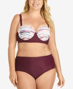 e1b68874d3f Raisins Curve Trendy Plus Baja Surf Tummy-Control High-Waist Bikini Bottoms Plus  Sizes - Swimwear - Macy s