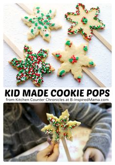 Kids Holiday Sugar Cookie Pops - Perfect for Christmas!