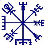 """Vegvisir (veja o caminho) é a""""bússola"""" viking. Uma runa de proteção,derivada deÆgishjálmr – o elmo de Awe – o símbolo de proteção mais popular da era viking. Vegvisir tem…"""