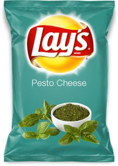 Basil Pesto Chips with chicken salad dip? Lays Chips Flavors, Potato Chip Flavors, Lays Potato Chips, Pesto Grilled Cheeses, Cheese Chips, Junk Food Snacks, Tomato Pesto, Basil Pesto, Cookie Flavors