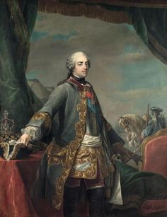 Louis XV in military uniform, second quarter 18th century by CARLE VAN LOO (1705-1765)