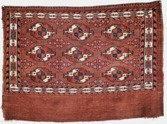 rare antique Karadaschli chuval ca 1880. Size is 113 x 81 cm. Unusual secondary guls, few bands of cotton in the wefts otherwise all wool and natural dyes just hand washed. Selvedges  ...