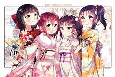 Love Live! Sunshine!! Seira Kazuno, Ria Kazuno, Saint Snow, Ruby Kurosawa, Dia Kurosawa