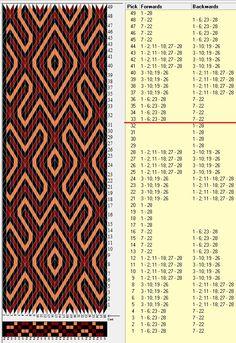 28 tarjetas, 3 colores, repite cada 32 movimientos // sed_224a diseñado en GTT༺❁