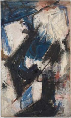 Judith Godwin, Martha Graham-Lamentation, oil on canvas, 60 x 35 inches, 1956 (courtesy of the artist) Abstract Canvas Art, Abstract Painters, Painting Courses, Robert Motherwell, Art Model, Female Art, Female Power, Original Artwork, Original Paintings