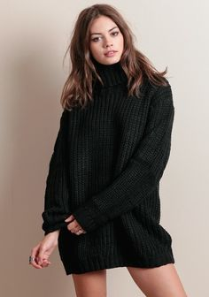 Another Night Chunky Knit Sweater Dress By MINKPINK