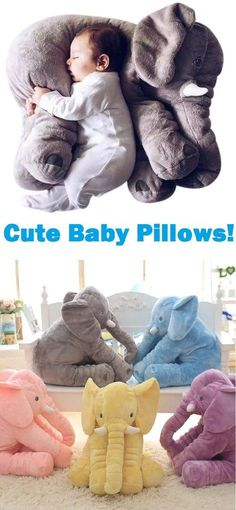 Stuffed Elephant Baby Pillow Toy