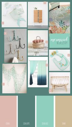 9 Ideas for a Mermaid Nursery - Amelia Baby Name - Ideas of Amelia Baby Name - If you love beach-inspired design deep jewel tones and mermaids then todays nursery theme is perfect for you.