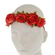 Bandeau à fleurs corail, Tes préférés, tous, Cheveux, Guirlandes, Serre-tête, Bandeaux - Tendances, accessoires et bijoux pour jeunes femmes...
