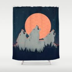 Howling Moon Shower Curtain