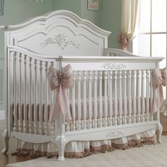 Dolce Babi Angelina Convertible Crib in Pearl