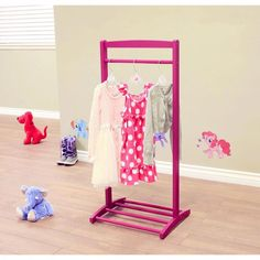 Generic Home Craft Kids' Clothes Rack, Purple. Complete your child's room with the Home Craft Kids' Clothes Rack. This coat rack has a classic look and makes it easy to keep your child's room tidy. It's sure to look good in any space. Playroom Stage, Playroom Decor, Playroom Ideas, Kids Clothing Rack, Kids Clothing Brands, Clothing Websites, Dress Up Outfits, Kids Outfits, Kids Coat Rack