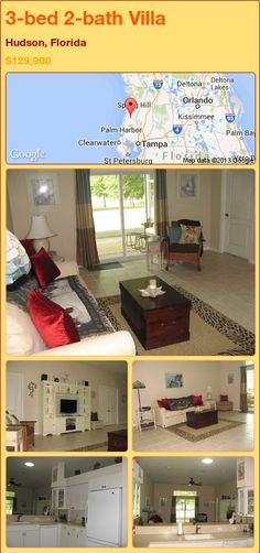 3-bed 2-bath Villa in Hudson, Florida ►$129,900 #PropertyForSale #RealEstate #Florida http://florida-magic.com/properties/87011-villa-for-sale-in-hudson-florida-with-3-bedroom-2-bathroom
