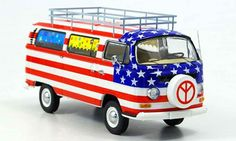 Volkswagen bus stars and stripes