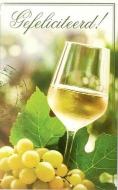 Gefeliciteerd! Glas witte wijn