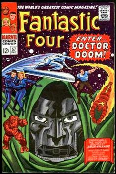 Fantastic Four w/ Doctor Doom Comic Books by Jack Kirby cover marvel Marvel Comics, Marvel Comic Books, Comic Books Art, Heroes Comic, Marvel Vs, Jack Kirby, Comic Book Artists, Comic Book Characters, Comic Artist