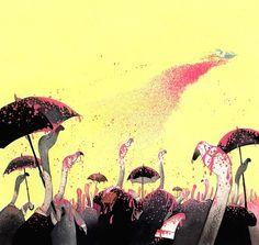 pintando os flamingos