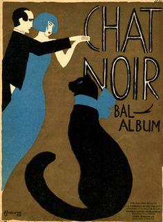 Illustrated Sheet Music by Bogelund (1890-1959), 1924, Chat noir Bal Album. (Thor Bogelund-Jensen)