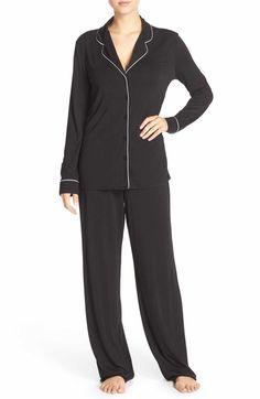Main Image - Nordstrom Lingerie Moonlight Pajamas. XS in Navy.