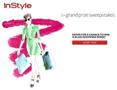 Enter to Win a $3000 shopping spree from InStyle!