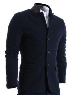 Fashionoutfit Men/'s Casual Fermeture à manches longues Light-Rembourré Veste Aviateur