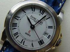 Original  Favre Leuba 1737 Damenuhr mit Box, mit original neuem Favre Leuba Lederband & Dorn Schliesse ungetragen noch Schutzkleber am Uhrenboden läuft einwandfrei, mit Datum Saphirglas, Durchmesser: 26 mm.  Only by Ebay Shop edeluhren4you  the link http://www.ebay.de/itm/360687369105?ssPageName=STRK:MESELX:IT&_trksid=p3984.m1558.l2649